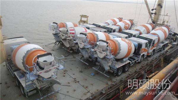 明硕股份为机械巨头涉外项目提供重大件国际海运服务