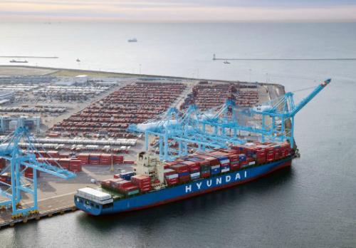亚博_韩国全球集装箱海运市场份额减半