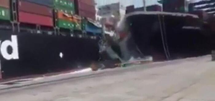 卡拉奇港口因两船相撞中断运营